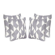 """GDF Studio Betty Outdoor Abstract 17.75"""" Square Cushion, Set of 4"""