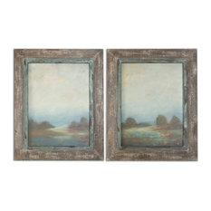 """Uttermost """"Morning Vistas"""" 2-Piece Framed Art Set, 25""""x31.13"""""""