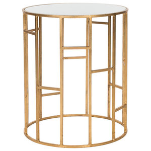 Safavieh Isaac Accent Table, Gold and White