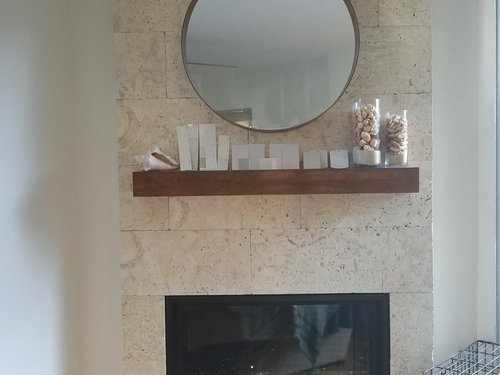 Shell Reef Limestone Tiled Fireplace Need Paint Help For Downstairs