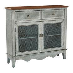 INSPIRED By Bassett   Lambert Storage Console, Blue   Console Tables