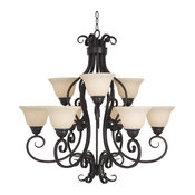 Manor 9-Light Chandelier, Oil Rubbed Bronze