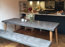 Hi, how much is the polished concrete table and bench? Thanks