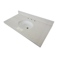 """Fauceture White Quartz Vanity With Tops With 17""""x14"""" Undermount"""