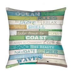 Laural Home - Ocean Rules Decorative Pillow - Decorative Pillows