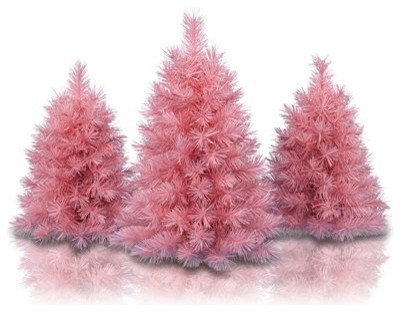 Captivating Pretty In Pink Tabletop Trees   Christmas Trees