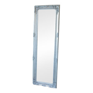 Tall Silver Ornate Mirror 47cm x 142cm