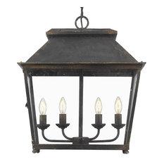 Abingdon 4 Light Pendant in Antique Black Iron