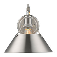 Orwell 1-Light Wall Sconce, Pewter Pewter Shade