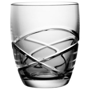 Swirl Lead Crystal Whisky Glasses, Set of 6