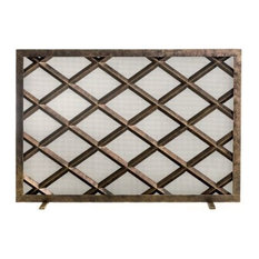 Ornamental Designs Fedora Fireplace Screen, Bronze