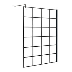 Crittall Inspired Square Shower Screen, 300mm Return