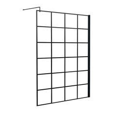 Kartell - Crittall Inspired Square Shower Screen, 300mm Return - Shower Screens & Doors