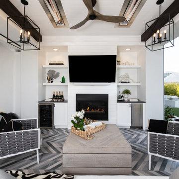 Built-in Entertainment Center in Coto de Caza California Room Remodel