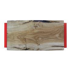 Small Natural Oak Chopping Board, Pepper Red