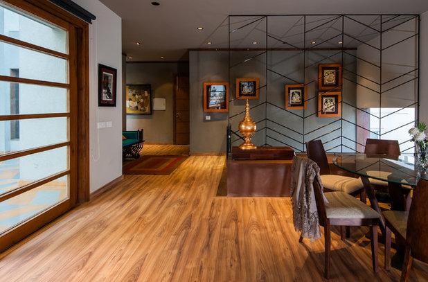 Contemporary Family Room by Chromed Design Studio