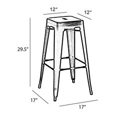 Vintage Bar Stools And Counter Stools Houzz