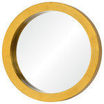 """Varaluz Casa - Ringleader - 23.5"""" Round Accent Mirror - Gold Leaf Finish - Go gold and go bold. Ringleader mirrors flaunt thick frames with hand-applied gold leaf to march your decor to a stately place."""