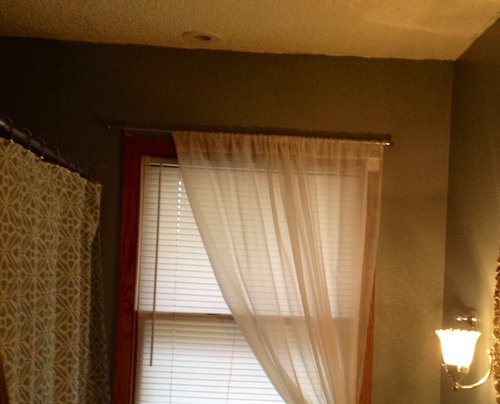 Height Of Shower And Window Curtains In, Bathroom Window Treatments Curtains