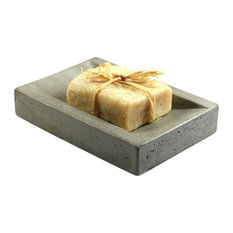Concrete Soap Dish, Natural Concrete
