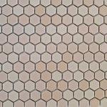 "districtII - 12""x12"" Pink Hexagon Mosaic Tile - Price is per sheet"