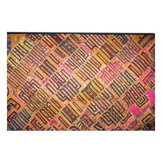 Mogul Interior - Decorative Tapestry Throw Kutch Embroidery Wall Hanging - Tapestries
