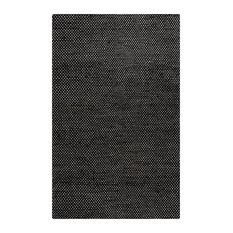 "Ellington Black Colored Jute/Woolen Area Rug, 2'6""x8'"