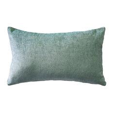 Pillow Decor, Venetian Velvet Ice Blue Throw Pillow 12x20