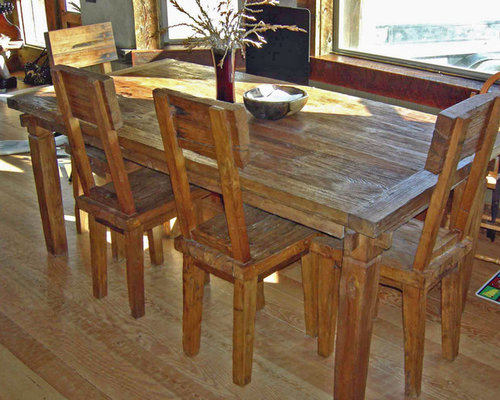 Rustic Reclaimed Teak Dining Table U0026 Chairs, Farmhouse Style   Dining Tables