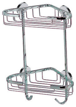 No Drilling Required Shower Caddy  Double Corner Unit   Shower Caddies