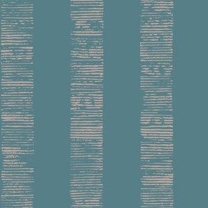 Boutique Mara Stripe Wallpaper, Turquoise, Roll