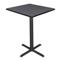 "Cain 30"" Square Café Table, Gray"