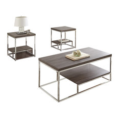 Lucia 3-Piece Occasional Table Set, Gray
