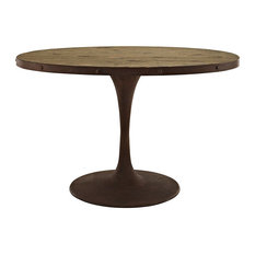 modway modway drive oval dining table brown dining tables - Metal Kitchen Table