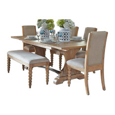 Liberty Furniture Industries, Inc.   Liberty Furniture Harbor View Trestle Table  Set   Dining Part 59
