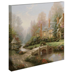 Phenomenal Twilight Cottage Gallery Wrapped Canvas 14X14 Rustic Home Interior And Landscaping Ologienasavecom