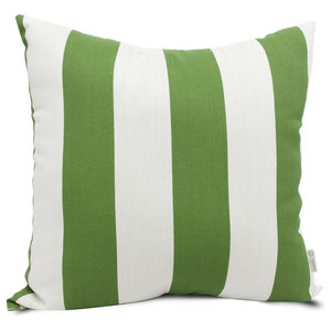 Sage Vertical Stripe Extra Large Pillow 24x24