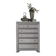 Begonia Hollywood Glam Chest, Metallic Gray