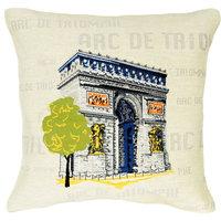 Arc De Triomphe Pop European Cushion