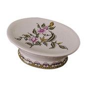 European Style Retro Ceramic Soap Box Oval Soap Holder