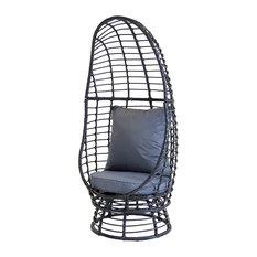 Charles Bentley Single Rattan Pod Chair