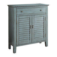 Winchell Antiqued Console Table, Antique Blue