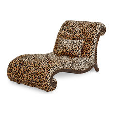 aico michael amini victoria palace armless leopard chaise indoor chaise lounge chairs