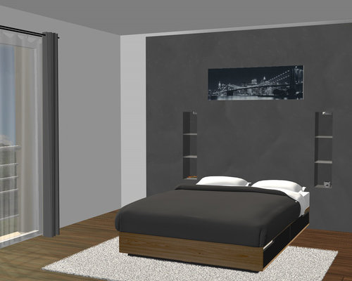 t te de lit avec clairage indirect. Black Bedroom Furniture Sets. Home Design Ideas