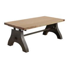 I H DESIGNS   Davis Reclaimed Metal Coffee Table   Coffee Tables