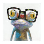 """""""Hipster Froggy"""" Decor Original Painting, 40""""x40"""""""