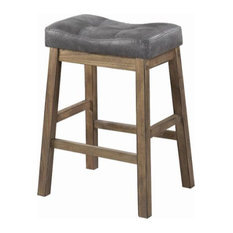 Counter Height Stool, 2 Tone Finish, Set of 2