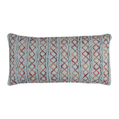 "Rizzy Home T11384 14""x26 Throw Pillow With Zipper Closer"