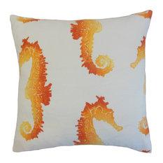Xenos Outdoor Floor Pillow, Tangerine