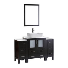 "54"" Bosconi Single Vanity, Espresso"